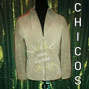 Chico's Leather Jacket